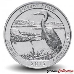 ETATS UNIS / USA - PIECE de 25 Cents - America the Beautiful - Bombay Hook National Wildlife Refuge - 2015 - P Km#600