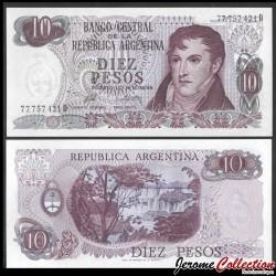 ARGENTINE - Billet de 10 Pesos - 1976 P295a4
