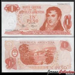 ARGENTINE - Billet de 1 Peso - 1972 P287a3