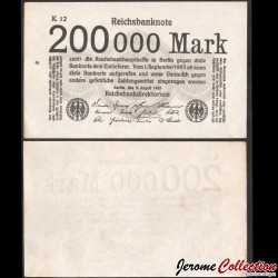 ALLEMAGNE / REICHSBANK - Billet de 200000 Mark - 1923 P100a