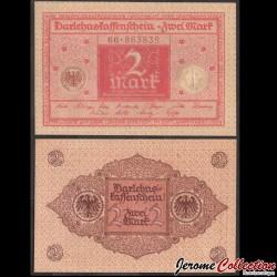 ALLEMAGNE / DARLEHENSKASSENSCHEINE - Billet de 2 Mark - 1920 P59a