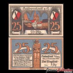 ALLEMAGNE - Notgeld - Halberstadt - Billet de 25 Pfennig - 1920 Grabowski 504.1