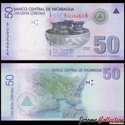 NICARAGUA - Billet de 50 Córdobas - Canyon de Sómoto - 2007 P203a