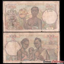 AFRIQUE OCCIDENTALE FRANÇAISE - Billet de 100 Francs - 2.9.1946 P40b