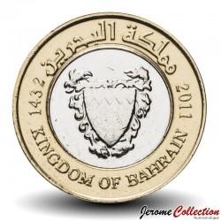 BAHREÏN - PIECE de 100 Fils - Bimétal - Blason du Bahreïn - 2011 Km#26.2