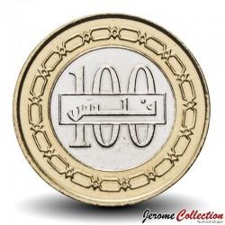 BAHREÏN - PIECE de 100 Fils - Bimétal - Blason du Bahreïn - 2011