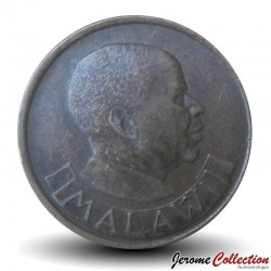 MALAWI - PIECE de 2 Tambala - Oiseau de paradis / President Dr. Hastings Kamuzu Banda - 1989