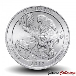 ETATS UNIS / USA - PIECE de 25 Cents - America the Beautiful - El Yunque National Forest - 2012 - D Km#519
