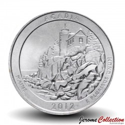 ETATS UNIS / USA - PIECE de 25 Cents - America the Beautiful - Acadia National Park - Maine - 2012 - P Km#521
