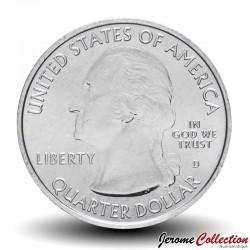 ETATS UNIS / USA - PIECE de 25 Cents - America the Beautiful - YellowstoneNational Park - Wyoming - 2010 - D