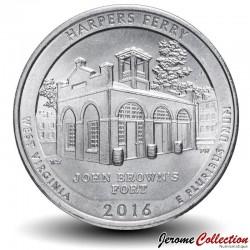 ETATS UNIS / USA - PIECE de 25 Cents - America the Beautiful - Harpers Ferry National Historical Park, West Virginia - 2016 -