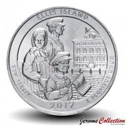 ETATS UNIS / USA - PIECE de 25 Cents - America the Beautiful - Ellis Island - 2017 - D Km#656