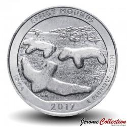 ETATS UNIS / USA - PIECE de 25 Cents - America the Beautiful - Monument national des Effigy Mounds - 2017 - S Km#653