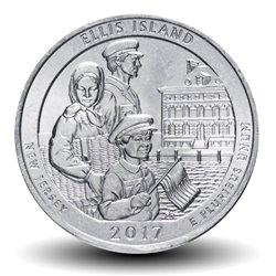 ETATS UNIS / USA - PIECE de 25 Cents - America the Beautiful - Ellis Island - 2017 - S Km#656