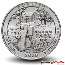 ETATS UNIS / USA - PIECE de 25 Cents - America the Beautiful - Weir Farm National Historic Site, Connecticut - 2020 - P Km#New