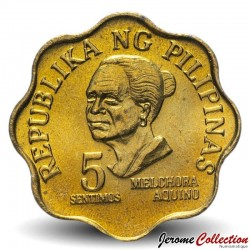 PHILIPPINES - PIECE de 5 Sentimo - Melchora Aquino - 1977 Km#206