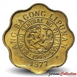 PHILIPPINES - PIECE de 5 Sentimo - Melchora Aquino - 1977
