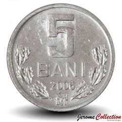 MOLDAVIE - PIECE de 5 Bani - 2006 Km#2