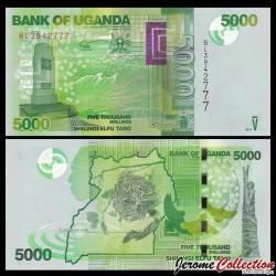 OUGANDA - Billet de 5000 Shillings - Mémorial de la Seconde Guerre mondiale - 2017 P51e