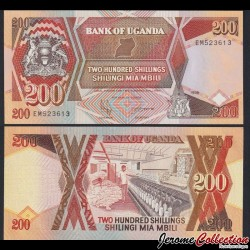 OUGANDA - Billet de 200 Shillings - Filature de coton - 1998 P32b5