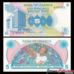 OUGANDA - Billet de 5 Shillings - Culture du Café - 1979 P10a