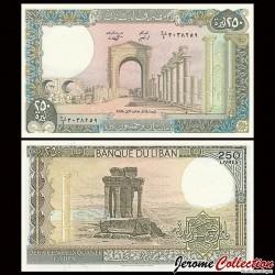 LIBAN - Billet de 250 Livres - L'Arc de Triomphe de Tyr - 1988 P67e3