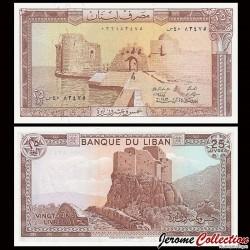 LIBAN - Billet de 25 Livres - Château de Mushailaha - 1983 P64c