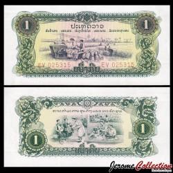 LAOS - Billet de 1 Kip - Soins médicaux - 1975 P19A