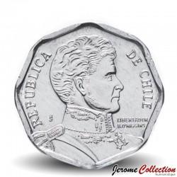 CHILI - PIECE de 1 Peso - Bernardo O'Higgins Riquelme - 2012 Km#231