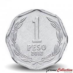 CHILI - PIECE de 1 Peso - Bernardo O'Higgins Riquelme - 2012