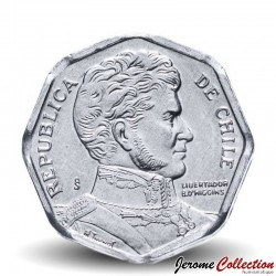 CHILI - PIECE de 1 Peso - Bernardo O'Higgins Riquelme - 2006 Km#231