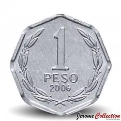 CHILI - PIECE de 1 Peso - Bernardo O'Higgins Riquelme - 2006