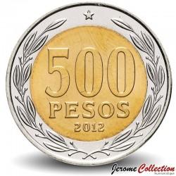 CHILI - PIECE de 500 Pesos - Raúl Cardinal Silva Henríquez - 2012