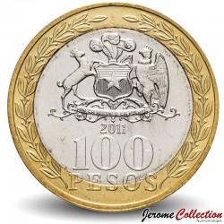 CHILI - PIECE de 100 Pesos - Femme mapuche - 2011