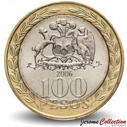 CHILI - PIECE de 100 Pesos - Femme mapuche - 2006