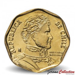 CHILI - PIECE de 5 Peso - Bernardo O'Higgins Riquelme - 2012