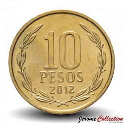 CHILI - PIECE de 10 Pesos - Bernardo O'Higgins Riquelme - 2012 Km#228