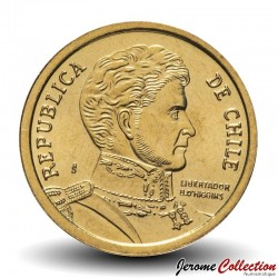 CHILI - PIECE de 10 Pesos - Bernardo O'Higgins Riquelme - 1992