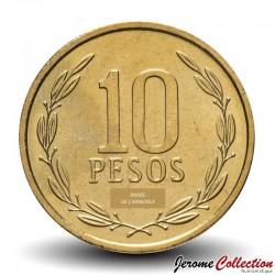 CHILI - PIECE de 10 Pesos - Bernardo O'Higgins Riquelme - 1998 Km#228