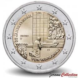 ALLEMAGNE - PIECE de 2 Euro - Genuflexion de Varsovie - 2020 - F - Stuttgart Km#new