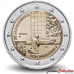ALLEMAGNE - PIECE de 2 Euro - Genuflexion de Varsovie - 2020 - G - Karlsruhe Km#new