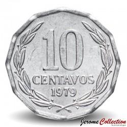 CHILI - PIECE de 10 Centavos - Condor - 1977 Km#205a