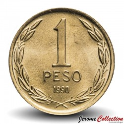 CHILI - PIECE de 1 Centavo - Bernardo O'Higgins Riquelme - 1990 Km#216