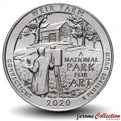 ETATS UNIS / USA - PIECE de 25 Cents - America the Beautiful - Weir Farm National Historic Site - Connecticut - 2020 - S
