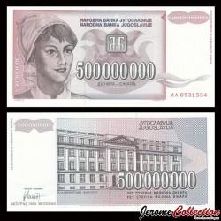 YOUGOSLAVIE - Billet de 500000000 Dinara - 1993 P125a