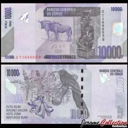 CONGO - BILLET de 10000 Francs - Buffles - 2013 P103b