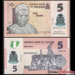 NIGERIA - Billet de 5 Naira - Polymer - 2020 P38k