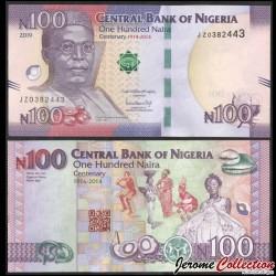 NIGERIA - Billet de 100 Naira - Billets commémoratif: Les 100 ans d'existence du Nigeria - 2019 P41b