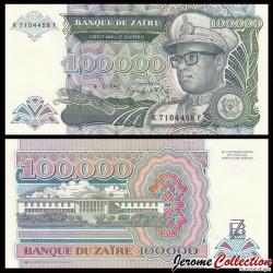 ZAIRE - Billet de 100000 Zaïres - 4.1.1992 P41a
