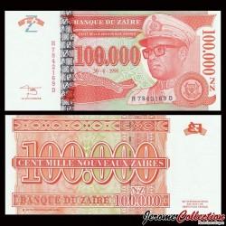 ZAIRE - Billet de 100000 Nouveaux Zaïres - HM - 30.6.1996 P77a